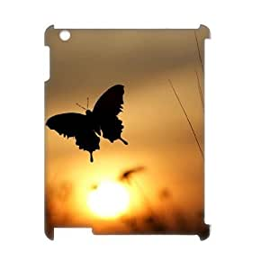 Butterfly in Glowing Sunset Custom 3D Case for Ipad 2,3,4, 3D Personalized Butterfly in Glowing Sunset Case