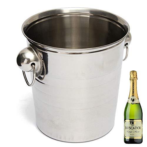 FidgetFidget Stainless Steel Ice Bucket Champagne Barrel Beer Wine Cooler Multifunction Bar ()