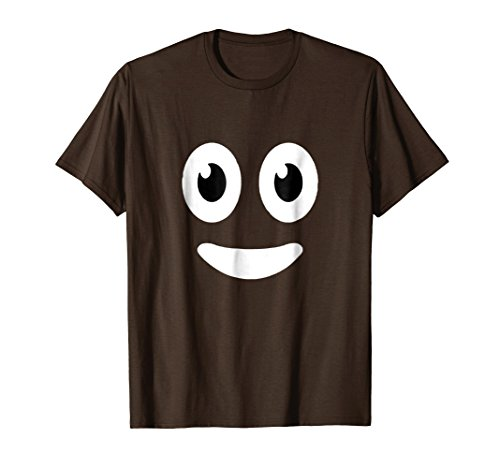Mens Funny Halloween Poop Costume Tshirt Medium Brown -