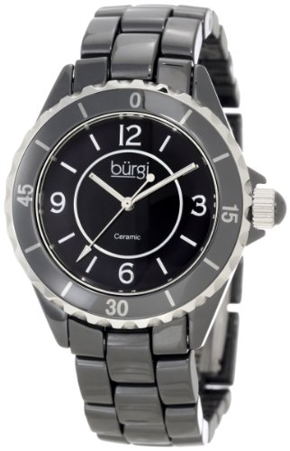 Burgi Women's BU57BK Ceramic Quartz Bracelet Watch