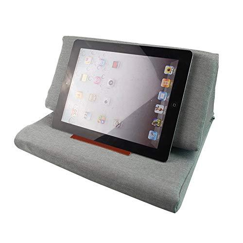 lzndeal Soporte de Tableta portátil de Felpa con Soporte de cojín en ángulo para el iPad Book Reader