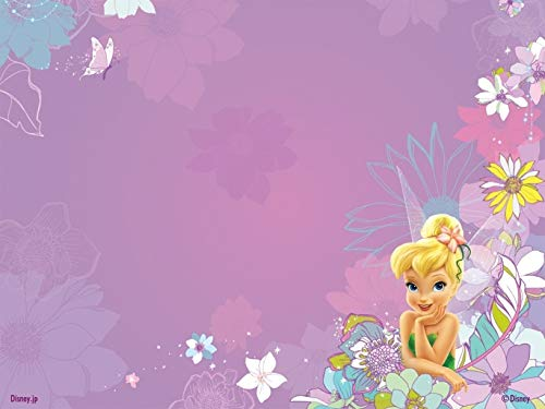 - Disney Fairies Tinker Bell Flower Background Edible Cake Topper Image ABPID09186 - 1/4 sheet