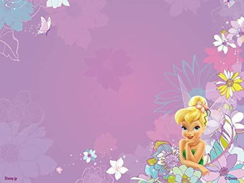 Disney Tinkerbell Flower - Disney Fairies Tinker Bell Flower Background Edible Cake Topper Image ABPID09186 - 1/4 sheet