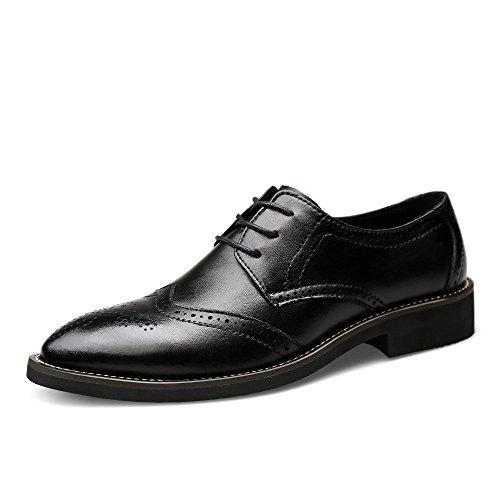 Chaussures De D'affaires Pointu Brogue Parti Pour Bureau Classique En Black up Mariage Chaussures Uniforme Cuir Chaussure Vintage Toe Lace Hommes Oxford Fv8PwqXx