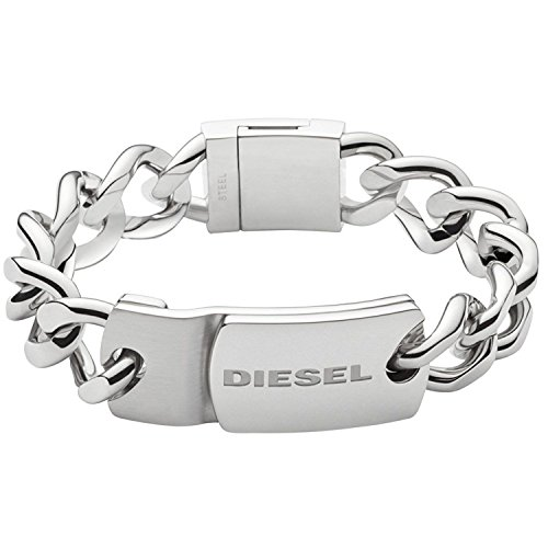 Diesel DX0967 Men's Stacked Stainless-Steel Chain Bracelet, Silver Tone, in Gift Box