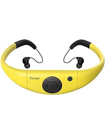 Tayogo Reproductor mp3 Natacion con Auriculares Impermeable IPX8 Hi-Fi Memoria de 8GB Disco U