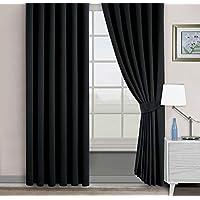 Belle Cose Kullanıma Hazır Blackout Karartma Termal Siyah Fon Perde-Siyah-300X250 cm