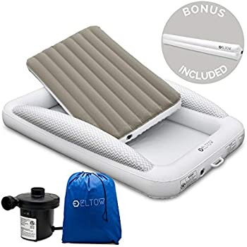 Amazon Com Eltow Inflatable Toddler Air Mattress Bed With