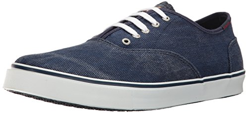 Sebago Mens Nolan Lace Up Fashion Sneaker Navy Canvas