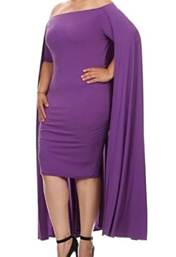 Plus Cloak Coolred Bodycon Purple Dress Evening Women Party Size Strapless 5rwX4ITxqX