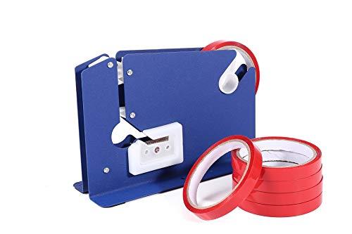 Bag Neck Sealer - Tape Dispenser With 6 Free Rolls Bag Neck Sealing Tape