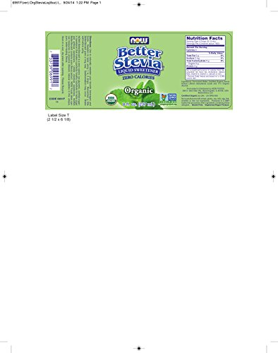 Now Foods BetterStevia Organic Liquid Extract - 8 oz. 8 Pack