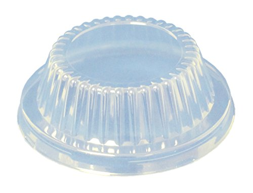 Durable Packaging Plastic Dome Lid for Aluminum Pot Pie Pan (Pack of 1000) by Durable Packaging