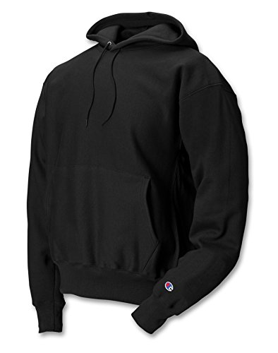 Champion Men's Men' Reverse Weave Fleece Pullover Hoodie, Black, - Hoodie Champ