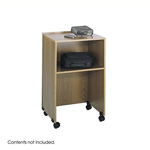 Safco Products 8917MO Lectern Base/Media Cart, (Optional Top 8916MO sold separately), Medium Oak