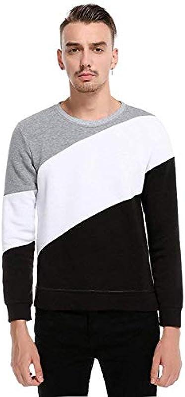HaiDean zima i jesień męski sweter z długim rękawem sweter bluza z okrągłym kołnierzem Longsleeve Casual G32nico gÓrna część: Odzież