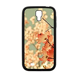 Personalized Clear Phone Case For Samsung Galaxy S4,glam pink flowers trees wangjiang maoyi