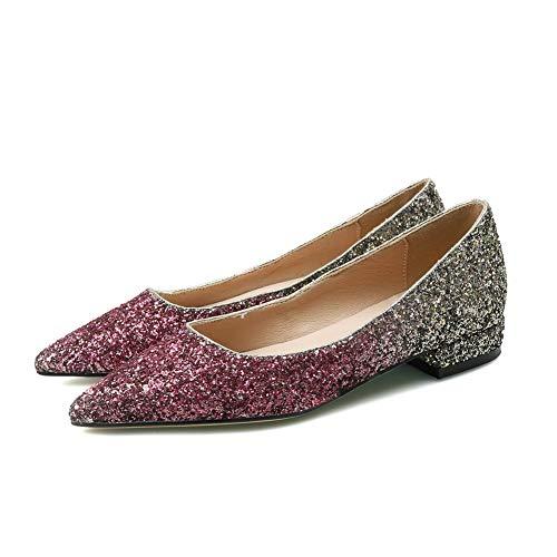 Compensées Sandales EU 36 MMS06437 5 Red 1TO9 Femme Rouge EFqURP
