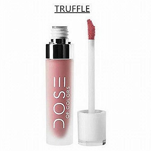 Leoie Dose Of Colors Liquid Matte Lipstick Waterproof Long Lasting Lip Gloss Cosmetics (TRUFFLE)
