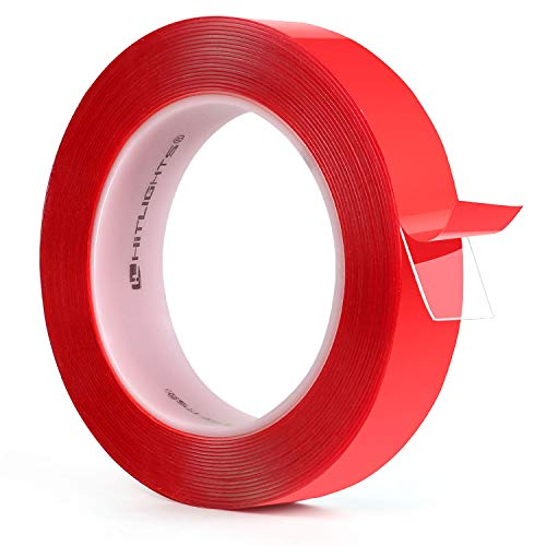 Double Sided Tape, HitLights 16ft Transparent VHB Mounting Tape Heavy Duty Waterproof Clear Tape for Car Motorcycle Home Wall Office Decor