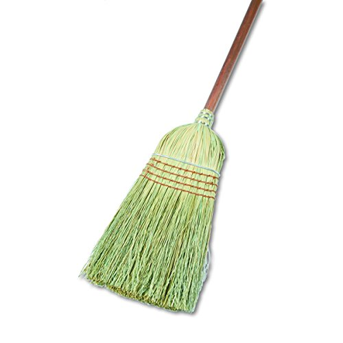 Boardwalk UNS 932Y BWK932YCT Warehouse Broom, Corn Fiber Bristles, 42'' Wood Handle, Natural (Pack of 12) by Boardwalk