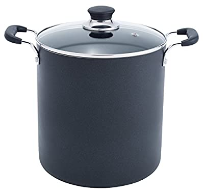 T-fal A92280 Specialty Total Nonstick Dishwasher Safe Stockpot, 12-Quart, Black from T-fal