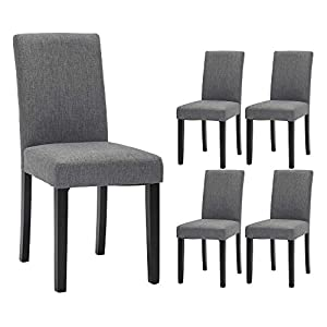 Dining Chairs Fabric Upholstered...