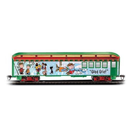 The Peanuts Christmas Express Good Grief Baggage Car Collectible Train Accessory by Hawthorne Village