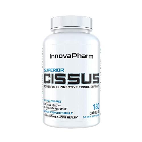 (InnovaPharm Superior Cissus w/QuadraFlex (Iridoid / Ketosterone Complex)   4800mg   180 Capsules   Highest Cissus Quadrangularis Dose Available)