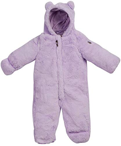Lavender 9 Months - Jessica Simpson Baby Girls Warm and Fluffy Faux Fur Pram with Character Hood (Infant and Toddler), Size 6-9 Months, Lavender''