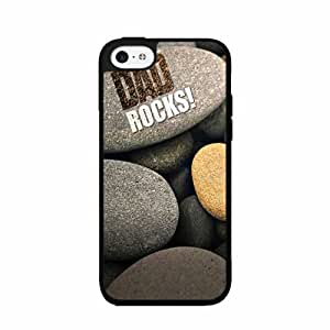 Funny Dad Rocks TPU RUBBER SILICONE Phone Case Back Cover iPhone 4 4s hjbrhga1544