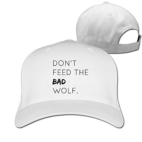 Peter And The Wolf Costumes (Sandwich Peaked Cap 100% Cotton Don't Feed The Bad Wolf Personalized Style Hats New Design Cool Hat)