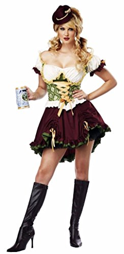 Girls Dreamy Genie Costumes - Oktoberfest Bavarian Beer Garden Girl German Adult Costume