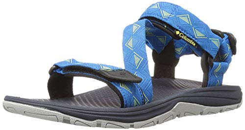 Columbia Blue Sandals - Columbia Men's Big Water Athletic Sandal, Static Blue/Zour, 12 D US