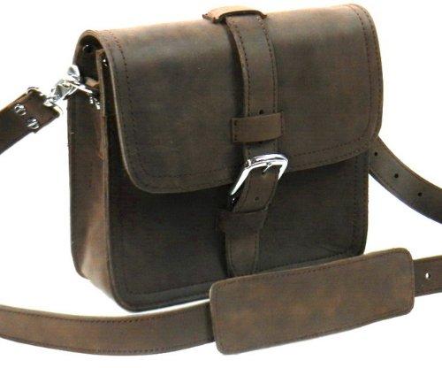 Vagabond Traveler COMMUTER - 10'' Leather Satchel Bible Bag L15. Vintage Brown by Vagabond Traveler