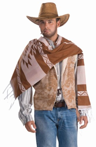 Men's Lonesome Cowboy Costume, Tan, One Size (Lonesome Cowboy Costume)