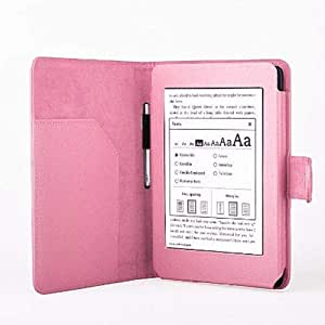 Folio Slim PU Leather Case Cover For Amazon Kindle Paperwhite Light Pink