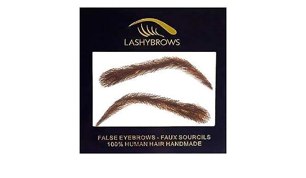 908b6d79e74 Amazon.com: False Eyebrows, Lashybrows 100% Handmade Human Hair Re-Usable  [Up to 3 Months] Silicone Base KYLIE Fake Eyebrows: Beauty