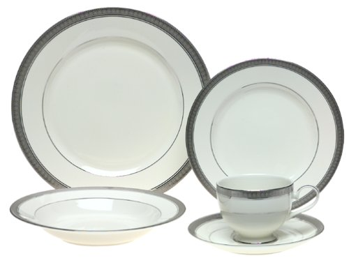 (Mikasa Palatial Platinum 5-Piece Place Setting, Service for 1)