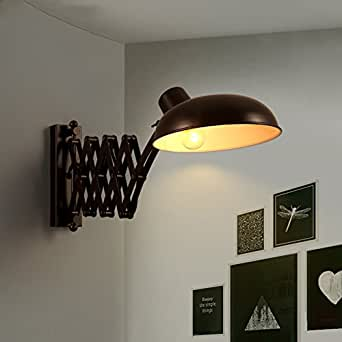 Vintage metal Wall sconce lamp,Led industrial wall sconce fixture Edison wall lantern Adjustable For [restaurant] Living room Hotel Outdoor Corridor Loft,40w- 22x21cm(9x8inch)