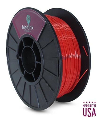 MeltInk3d Red 1.75mm PLA 3D Printer Filament 1Kg MeltInk3d Supplies