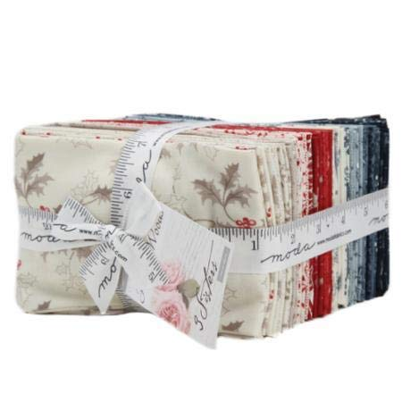 "Holly Woods~ 40 Precut Cotton Fat Quarters 18"" x 21"" by 3 Sisters for Moda"