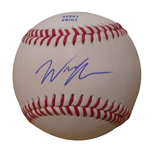 (San Diego Padres Wil Myers Autographed Hand Signed Baseball with Proof Photo of Will Signing and COA, Tampa Bay Rays)