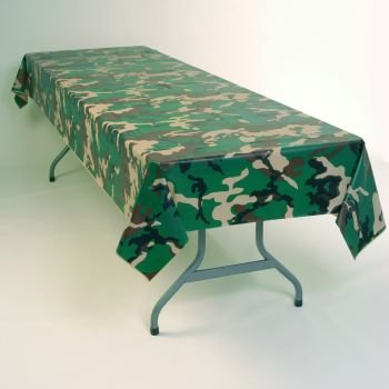 Camouflage Plastic Tablecloth 54″ x 108″, Health Care Stuffs
