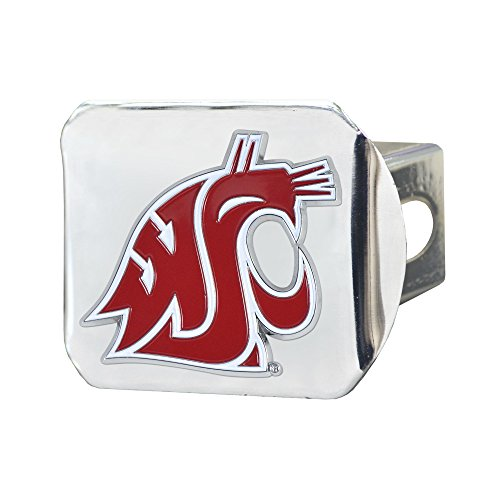 - CC Sports Decor NCAA Washington State University Cougars Color Class III Hitch - Chrome Hitch Cover Auto Accessory