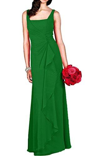 Bodenlang Traeger Partykleider mia Damen Cocktailkleider Chiffon Dunkel La Abendkleider Braut mit Blau Grün POS1wPzq