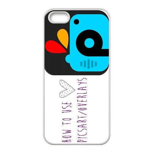 Picsart 002 coque iPhone 4 4S Housse Blanc téléphone portable couverture de cas coque EEEXLKNBC18979