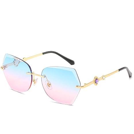 Yangjing-hl Gafas de Sol sin Montura Tendencia Gafas de ...