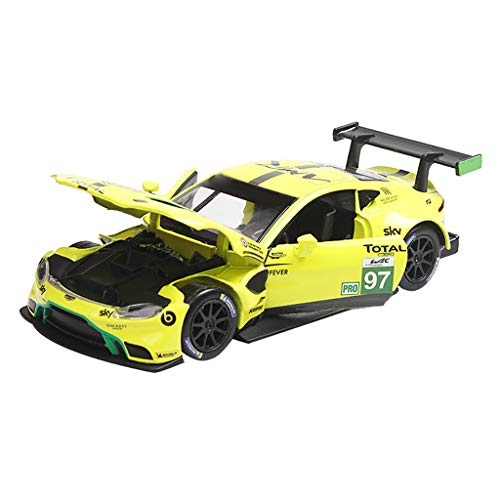 Hatop- Alloy Pull Back Model Car with Sound and Lights 1:32 Scale Car Model Birthday Present for 1 3 4 5 6 Year Old Boy Girl