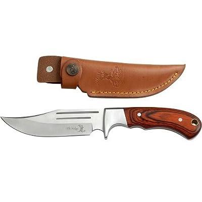 Elk Ridge ER-052 Fixed Blade Hunting Knife, Straight Edge Blade, Pakkawood Handle, 9-1/2-Inch Overall